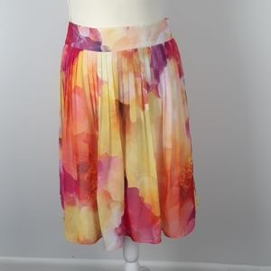 Liz Claiborne 10 spring pleated colorful skrt